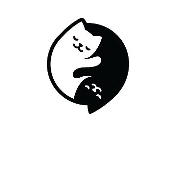 Yin and Yang or Taijitu Cute Little Cats  by FallenRevol