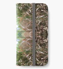 curly yellow grasses symmetrical pattern iPhone Wallet/Case/Skin