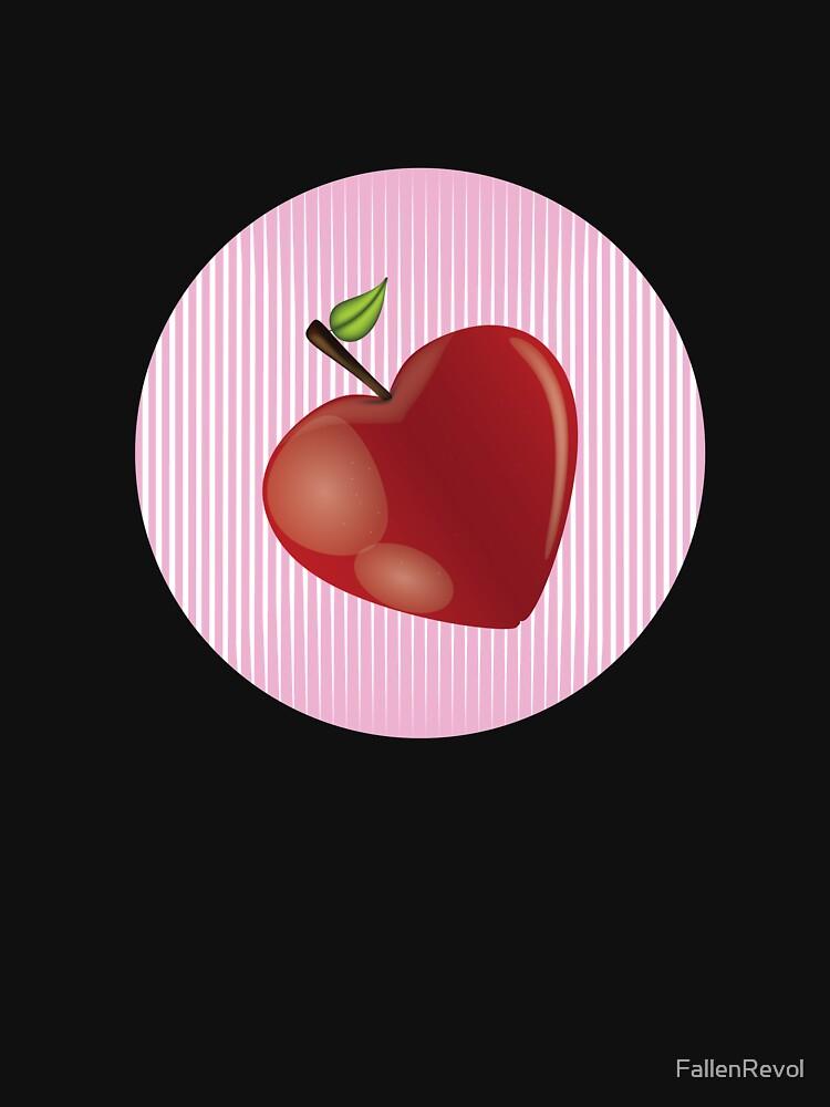 Heart Shape Apple In Pink  by FallenRevol