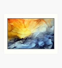"""Sunset over the Mountains"" Art Print"