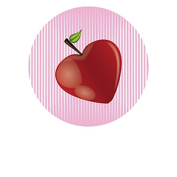 Heart Shape Apple In Pink  by FallenRevol