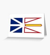 Newfoundland and Labrador Flag Greeting Card