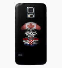 Kanadisch mit kroatischen Wurzeln Geschenk für Kroatisch aus Kroatien - Kroatien Flagge in Wurzeln Hülle & Klebefolie für Samsung Galaxy