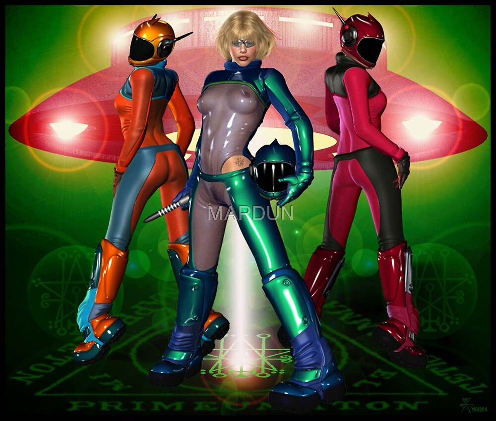 UFO Space Girls From Seventh Heaven Venus  by MARDUN