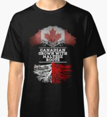 Canadian Grown With Maltese Roots Gift For Maltese From Malta - Malta Flag in Roots Classic T-Shirt