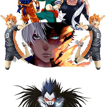 Manga Menu (My Hero Academy, Dragon Ball, Death Note, Haikyuu, Shokugeki no Soma (Food Wars)) by AnthonySan