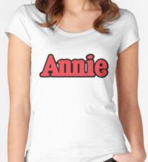 Annie Broadway Musical Show Movie Orphan Film Vintage Women's Fitted Scoop T-Shirt