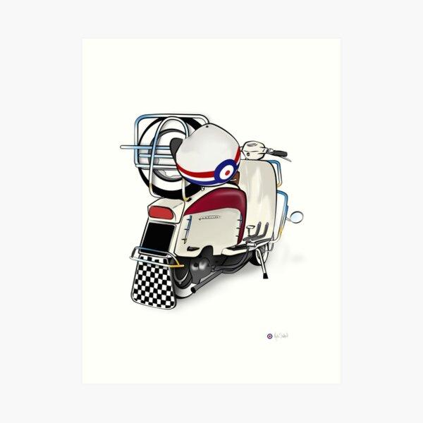 Lambretta Ready 2 go - By Collibosher Art Print