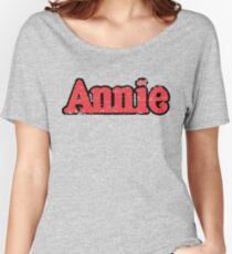 Annie Broadway Musical Show Movie Orphan Film Vintage Distressed Retro Women's Relaxed Fit T-Shirt