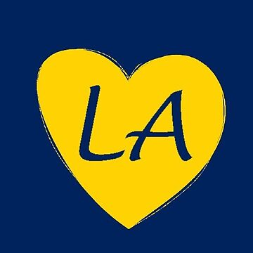 Blue Gold Los Angeles Heart Gift LA Pride Soccer Football by DigitalNomadTee