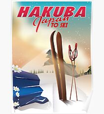 Hakuba Japan ski poster Poster