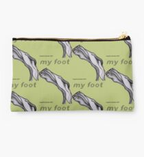 My Foot Text Studio Pouch