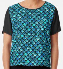 Blusa Escamas de sirena - Azul turquesa