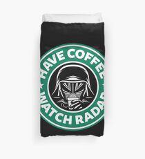 Have Coffee, Watch Radar Duvet Cover