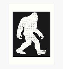 Sasquatch Colorado Bigfoot Colorado Patriotic Art Print