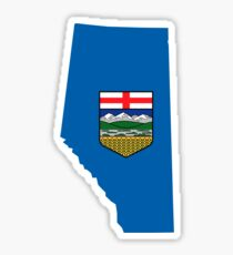 Alberta Flag Map Sticker