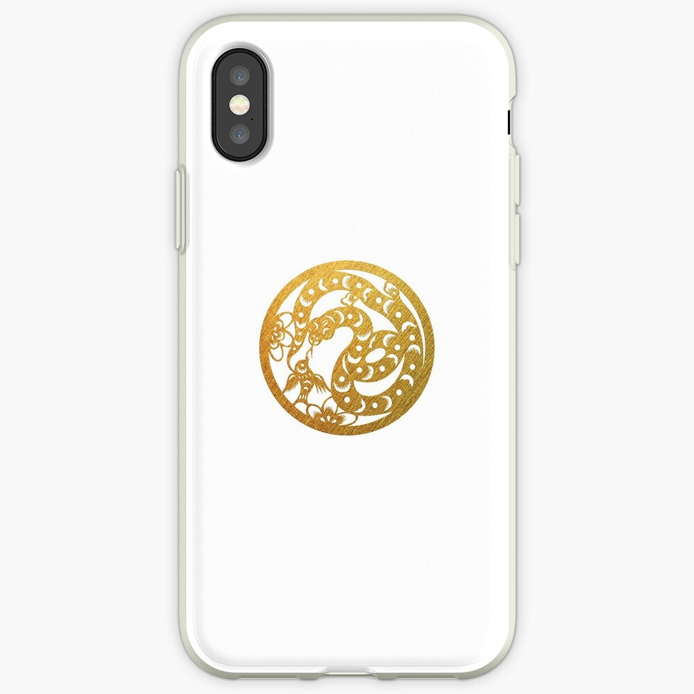 Chinese Zodiac Snake in Gold | iPhone Case & Cover