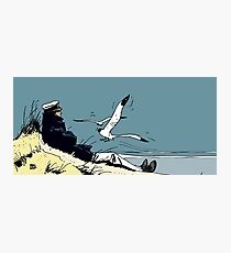 Corto Maltese at the seaside Photographic Print