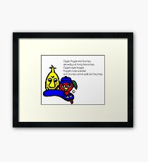 OGGLE, POGGLE AND GRUMPS Poem Framed Print