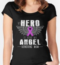 My Hero Is Now My Angel , Honoring Mom Women's Fitted Scoop T-Shirt