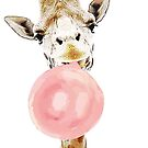 Pink Bubblegum Giraffe  by IconicTee