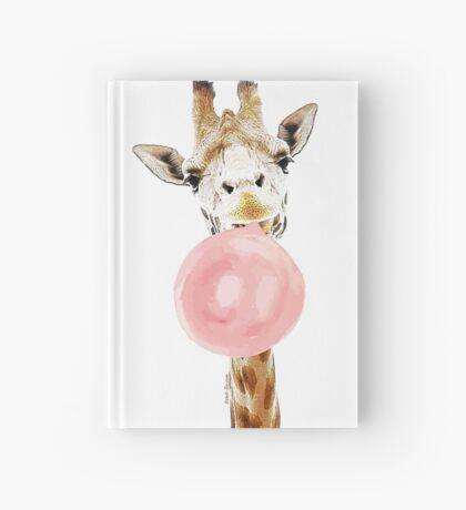 Pink Bubblegum Giraffe  Hardcover Journal