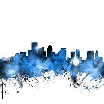 Boston Massachusetts Skyline by ArtPrints