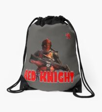 Red Knight Drawstring Bag
