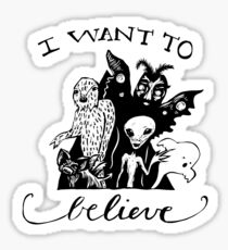 I Want To Believe - Black And White Sticker