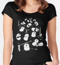 PANDAMONIUM Women's Fitted Scoop T-Shirt