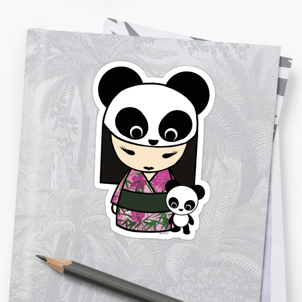 Kokeshi Doll with Panda by monkeyhut