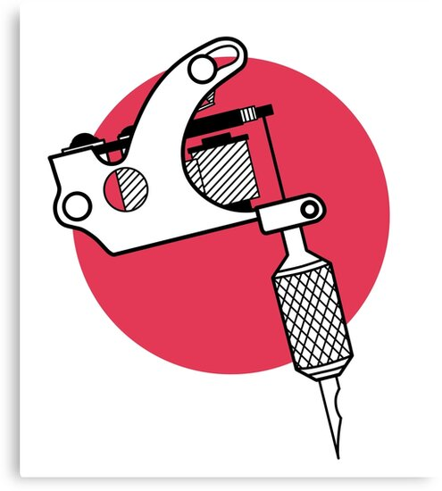 Tattoo machine lineart by HarleyEos