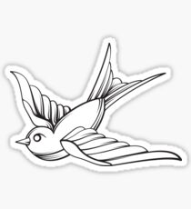 Vintage Line art Sparrow Sticker