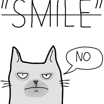 Smile No T-Shirt - Funny No Photos Please by mousenpepper