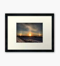 Halo on the field Framed Print