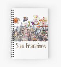 Pop Art Surreal CRAZY San Francisco  Spiral Notebook