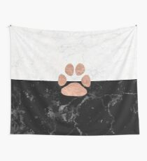 Paw - Marble - Animal Lovers Wall Tapestry