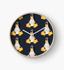 Linux Tux x4 Clock