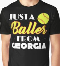 Just A Baller From Georgia Graphic T-Shirt