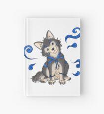 Little spiritual wolf (blue) Hardcover Journal