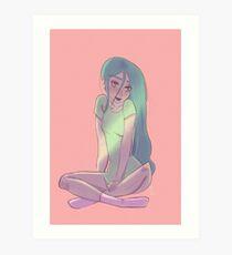Cute pajama girl Art Print