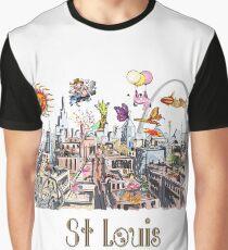 Saint Louis  Crazy City Life POP ART  Graphic T-Shirt
