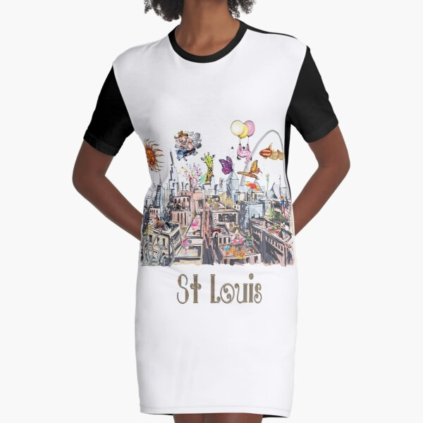 Saint Louis  Crazy City Life POP ART  Graphic T-Shirt Dress