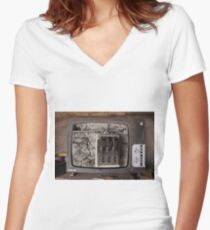 old television Women's Fitted V-Neck T-Shirt