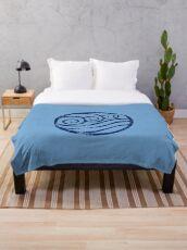 Waterbending Logo · Distressed Throw Blanket