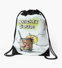 Happy Hour Recipe Drawstring Bag