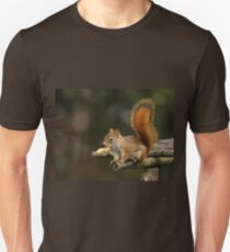 Surprised Red Squirrel With Peanut Unisex T-Shirt