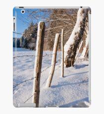 Rural winter scene iPad Case/Skin