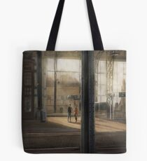 Meeting at the Train Station Tote Bag