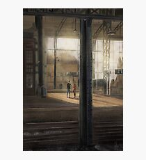 Meeting at the Train Station Photographic Print